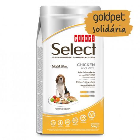 Goldpet Solidária - Picart Select Cão Adulto Light/Sterilised - Frango e arroz