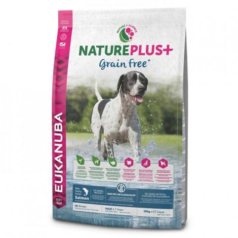Eukanuba NaturePlus+ Grain Free Cão adulto - Salmão