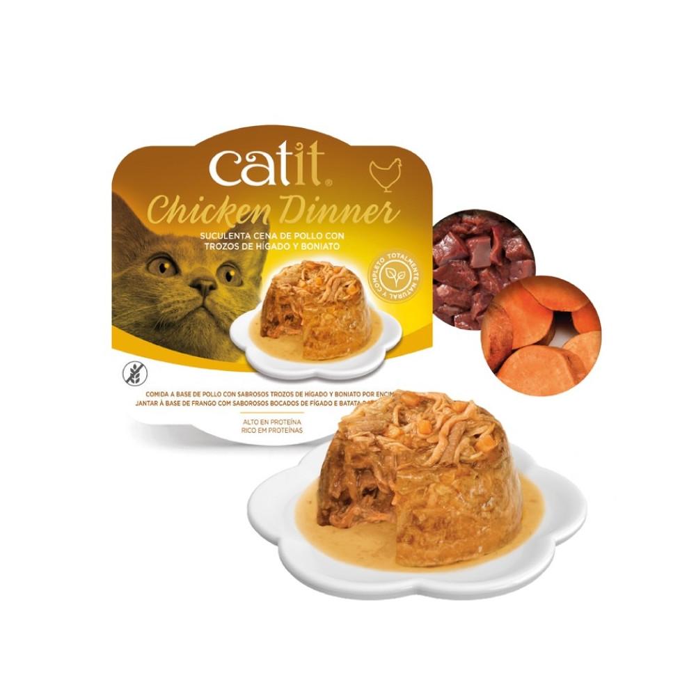 Catit Chicken Dinner - Alimento de frango, atum e couve