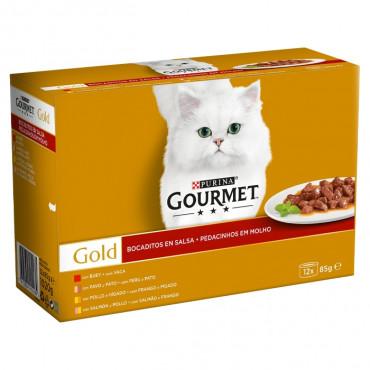 Gourmet Gold Pack Pedacinhos em molho