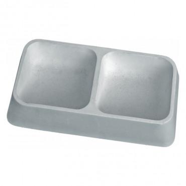 Copele Comedouro/ bebedouro duplo de cimento