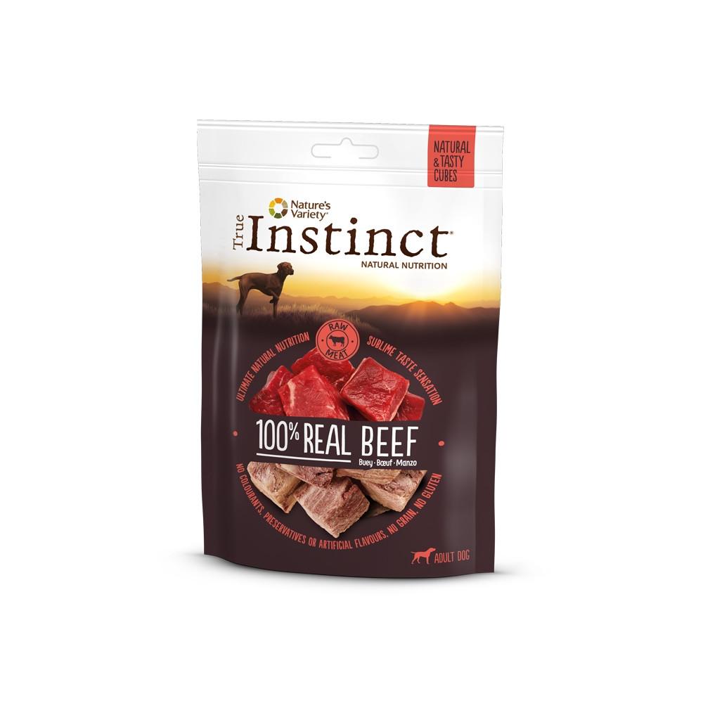 True Instinct Real Beef Cubes Snacks para cão - Vaca