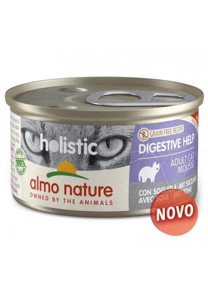 Almo Naure Holistic Digestive Help Mousse Gato adulto - Linguado