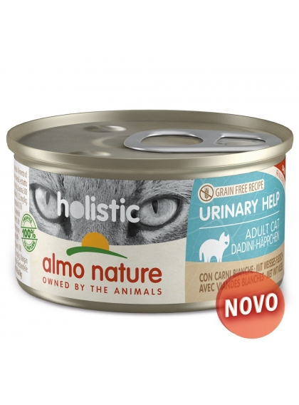 Almo Naure Holistic Urinary Help Mousse Gato adulto - Carnes brancas