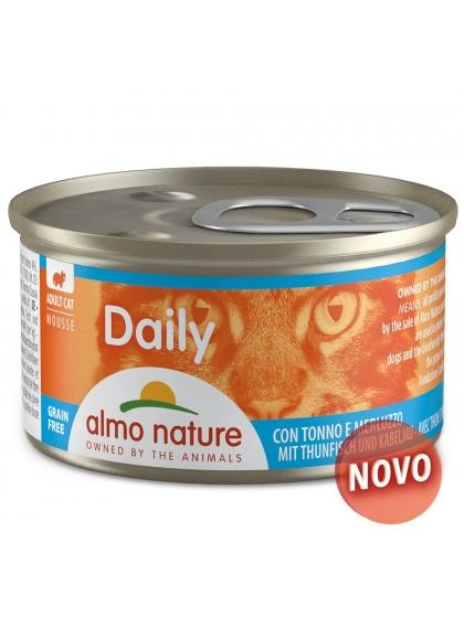 Almo Naure Daily Mousse Gato adulto - Atum e bacalhau