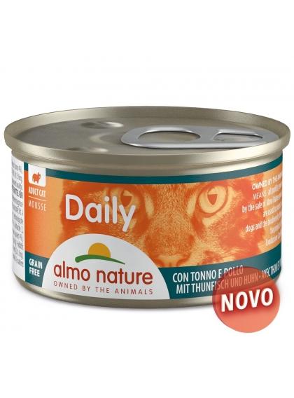 Almo Naure Daily Mousse Gato adulto - Atum e frango