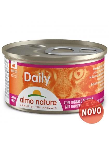 Almo Naure Daily Mousse Gato adulto - Atum e salmão