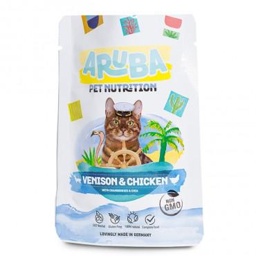 ARUBA Alimento para gato - Ganso e vaca com brócolos