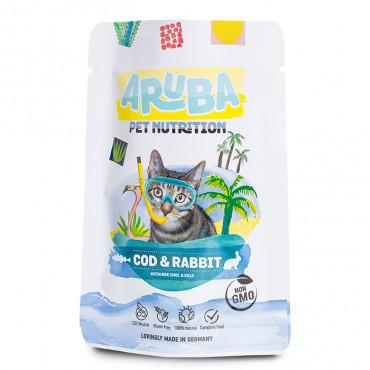 ARUBA Alimento para gato - Bacalhau e coelho com couve
