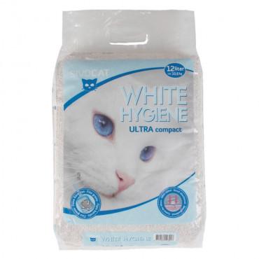 Areia aglomerante White Hygiene Ultra - Sivocat