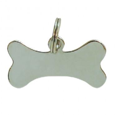 Identificador Metal em Osso Grande - 6cm