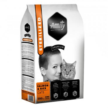 Amity Premium Sterilized Gato adulto - Salmão e arroz