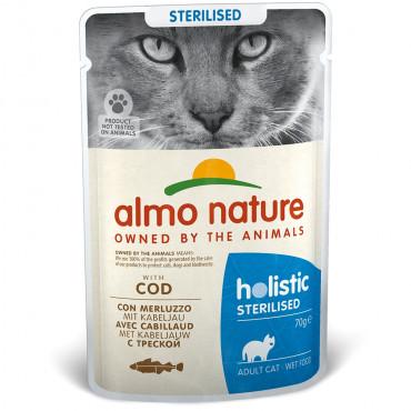 Almo Nature Holistic Sterilised Gato adulto - Húmido de Bacalhau