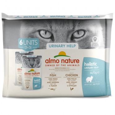Almo Nature Holistic Urinary Help Gato adulto - Multipack Peixe/Frango
