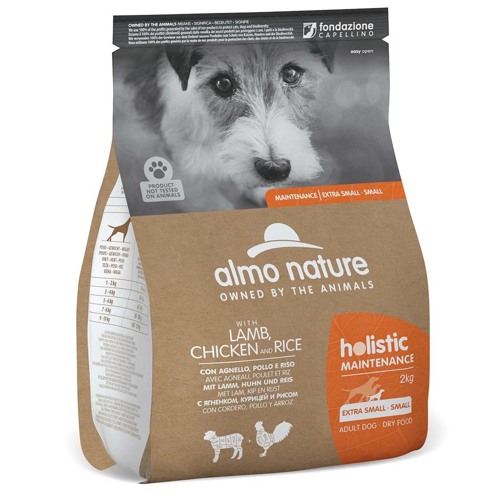 Almo Nature Holistic Cão adulto extra small/small - Cordeiro, frango e arroz