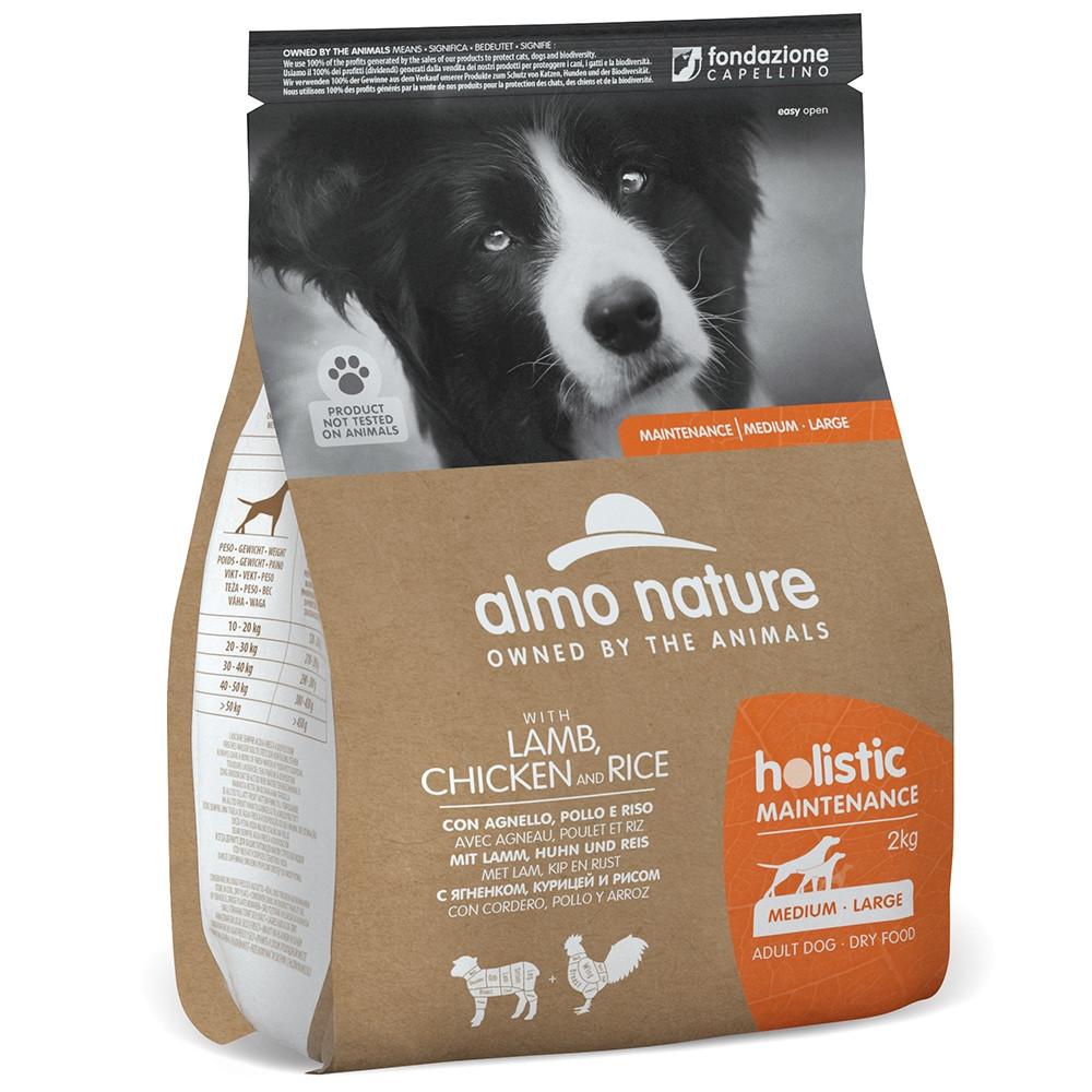 Almo Nature Holistic Cão adulto medium/large - Cordeiro, frango e arroz