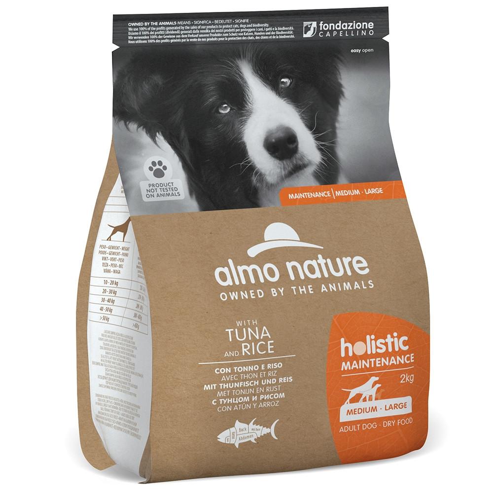 Almo Nature Holistic Cão adulto medium/large - Atum e arroz