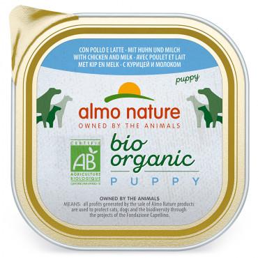 Almo Nature Biorganic Cão Puppy - Terrina Frango e leite