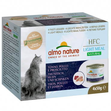 Almo Nature HFC Natural Light Gato - Atum, frango e fiambre