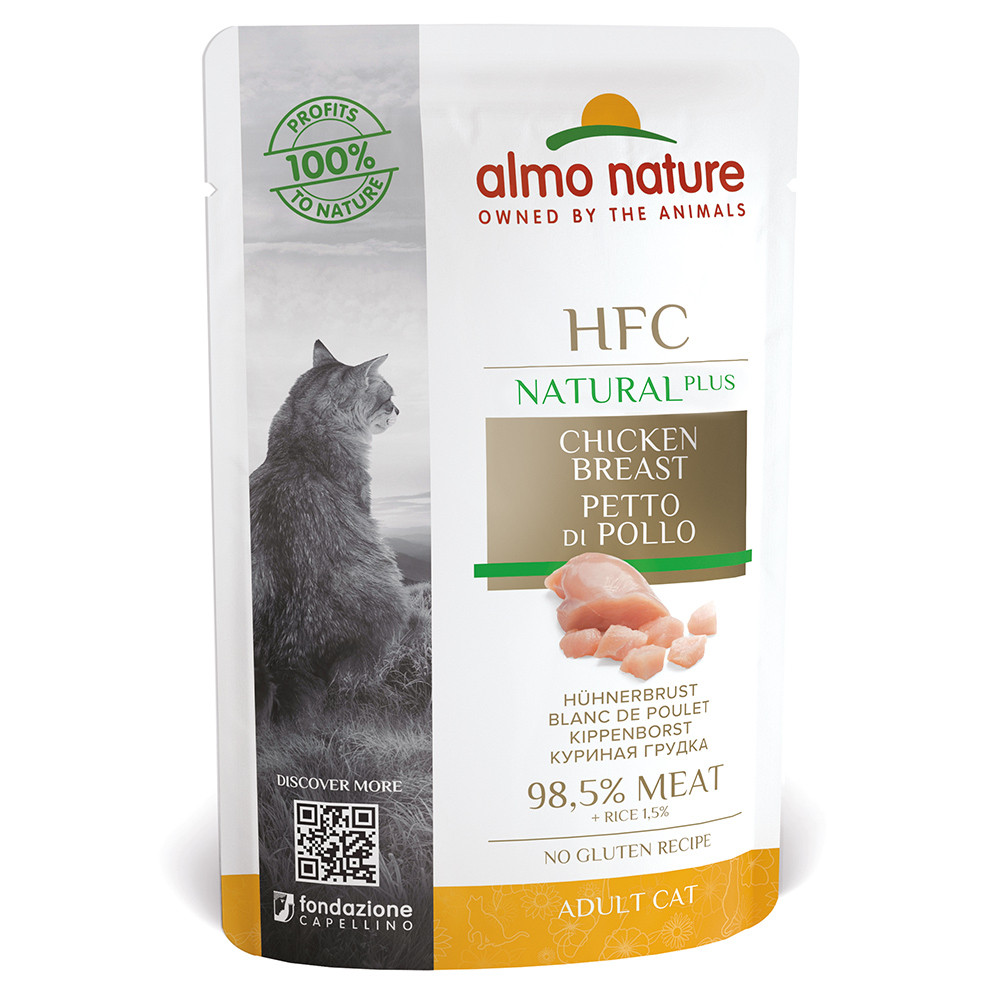 Almo Nature HFC Natural plus Gato - Peito de frango