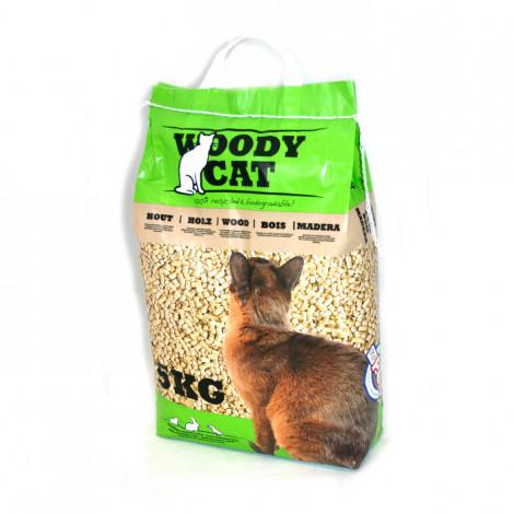 Woody Cat Areia ecológica para gatos, aves e roedores