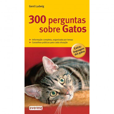 Livro 300 perguntas sobre Gatos