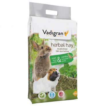 Feno natural com hortelã e salsa para roedores - Vadigran
