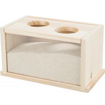 Banheira em madeira para ratos e hamsters