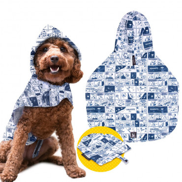 Capa Snoopy BD com capuz para cães