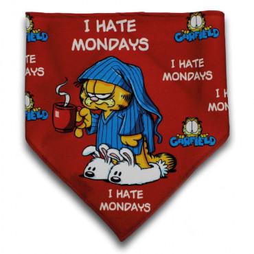Lenço Garfield para cão I hate mondays
