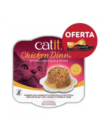 Catit Chicken Dinner - Alimento de frango, pato e batata