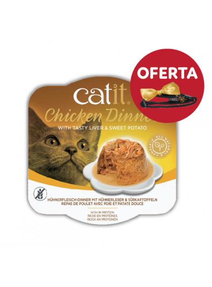 Catit Chicken Dinner - Alimento de frango, fígado e batata doce