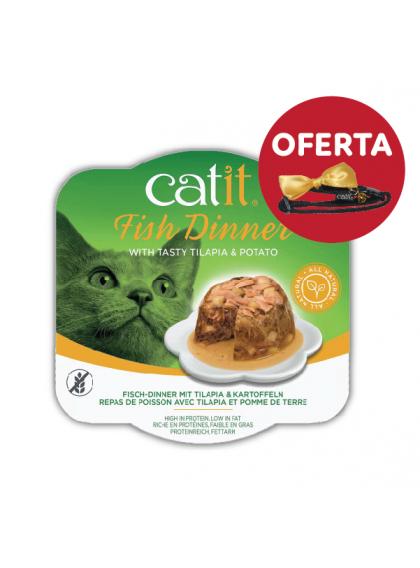 Catit Fish Dinner - Alimento de peixe, tilápia e batata