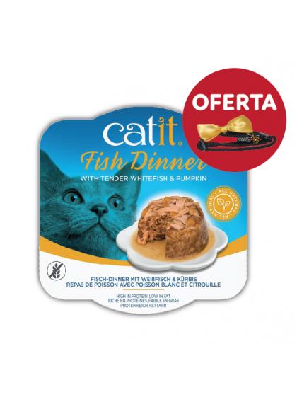 Catit Fish Dinner - Alimento de peixe, panga e abóbora