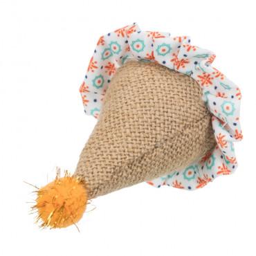 Chapéu pequeno em juta e tecido - Trixie