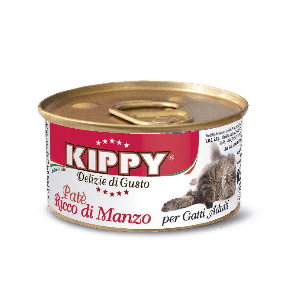 KIPPY Patê para gato adulto - Vaca