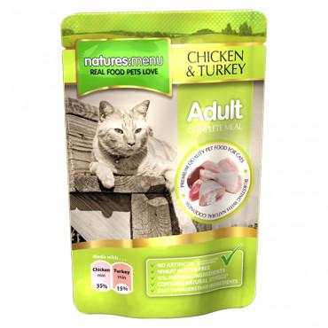 Natures Menu Alimento húmido para gato - Frango e peru