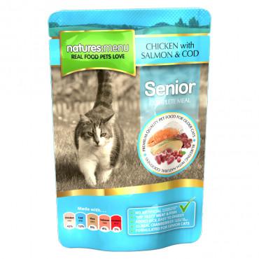 NATURES MENU CAT - Frango, Salmão e Bacalhau - Senior