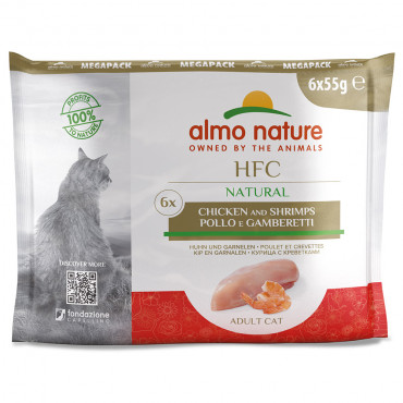 Almo Nature HFC Natural Gato - Pack Frango e camarão