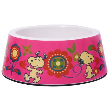 Taça Snoopy em melanina - Rosa com flores