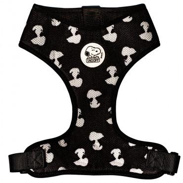 Colete/Peitoral Snoopy para cão - Preto e branco