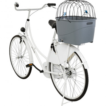 Cesto de plástico com tampa para bicicleta