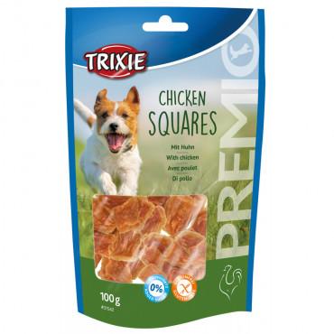 Premio chicken squares para cão