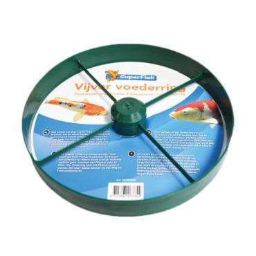 Anel flutuante para alimentação de peixes de lago
