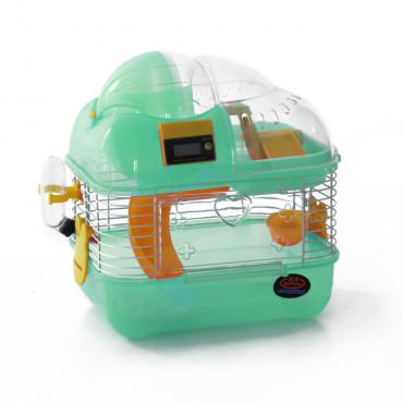 Gaiola para hamsters com contador de voltas