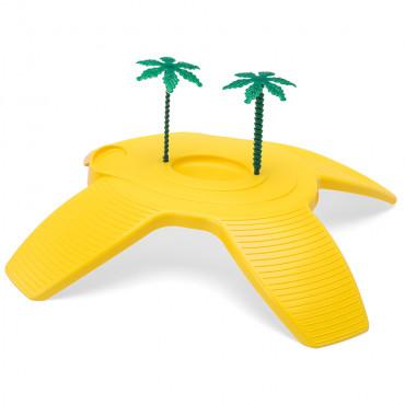 Ilha com palmeira para tartarugueira