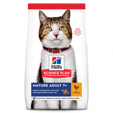 Hill's Gato Adulto Mature 7+ - Frango