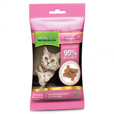 Natures Menu Snacks para gato - Frango e fígado