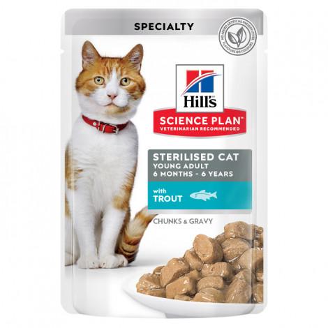 Hill's Young Adult Sterilised Gato - Truta - Em pedaços