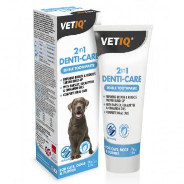 Pasta de dentes 2 em 1 para cão e gato - VetiQ Denti-care